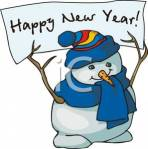 A_snowman_holding_a_Happy_New_Year_sign_100914-213133-397009